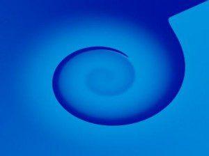 Shaded blue twirl