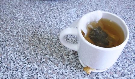A steaming cup of fragrant tea?