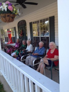 Rocking on the porch at the RCF